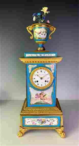 18TH C. SEVRES CLOCK BY JULIEN LEROY (1686-1759)