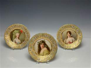 SET OF 3 ROYAL VIENNA PLATES