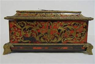 19TH C. BOULLE JEWELRY BOX