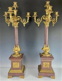 A PAIR OF PALATIAL LOUIS PHILLIPE STYLE CANDELABRA