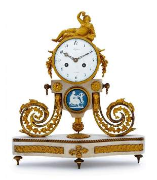 19TH C. FRENCH FIGURAL CLOCK BY LEPIN