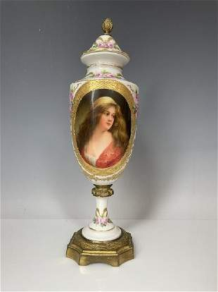 19TH C. ROYAL VIENNA STYLE VASE SIGNED WAGNER