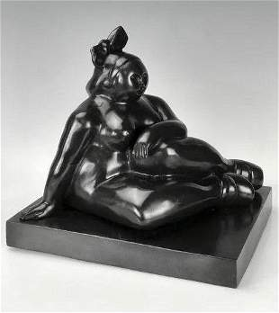 A LARGE BRONZE SCULPTURE SIGNED BOTERO