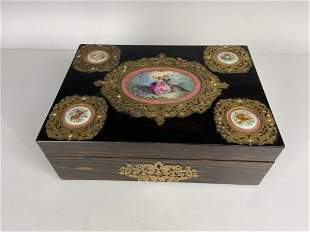 19TH C. ORMOLU AND SEVRES PORCELAIN MOUNTED BOX