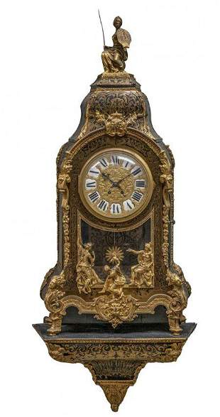 A PALATIAL FRENCH BOULLE BRACKET CLOCK