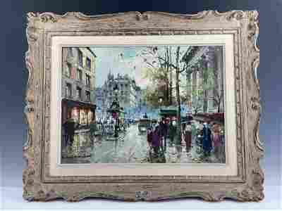OIL PAITING SIGNED ANTOINE BLANCHARD