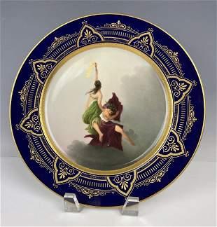 19TH C. ROYAL VIENNA PORCELAIN PLATE