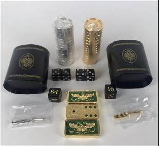 IMPERIAL FABERGE DOMINO BACKGAMMON CHECKERS SET