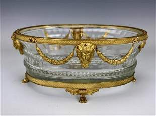 EMPIRE STYLE DORE BRONZE AND BACCARAT CENTERPIECE