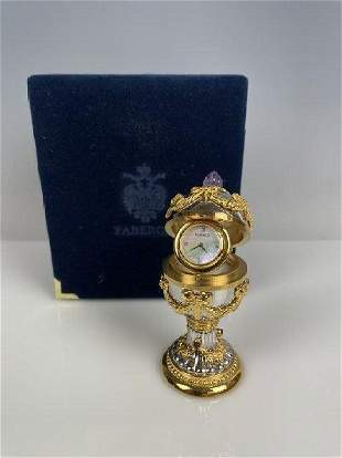IMPERIAL FABERGE EGG CLOCK