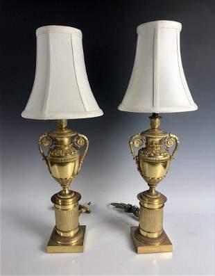 EMPIRE STYLE DORE BRONZE LAMPS