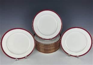 SET OF 15 MINTON TIFFANY DINNER PLATES