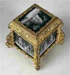 LIMOGE ENAMEL BOX
