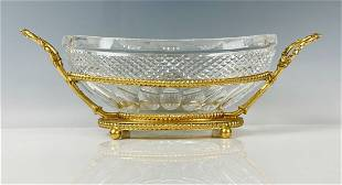A LARGE DORE BRONZE AND BACCARAT CRYSTAL CENTERPIECE