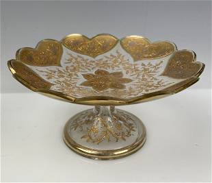 GILT AND ENAMELED MOSER DISH