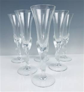 SET OF 6 FABERGE CHAMPAGNE FLUTES