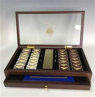 FRANKLIN MINT HOUSE OF FABERGE DOMINO SET