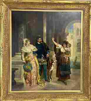 19TH C. OIL PAINTING SIGNED F. RICHTER