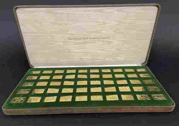 FRANKLIN MINT 24KT GOLD OVER SILVER DUCK STAMPS OF USA