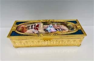 AN IMPOSING LIMOGE ENAMEL BOX