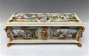 A LARGE 19TH C. VIENNESE ENAMEL BOX