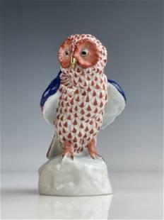 HEREND PORCELAIN OWL