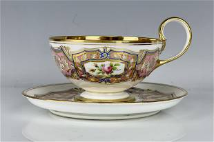 19TH C. SEVRES CUP & SAUCER