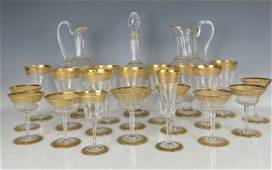 AN EXTENSIVE SET OF THISTLE PATTERN ST. LOUIS GLASS SET