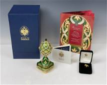 IMPERIAL FABERGE STERLING SILVER MUSICAL EGG