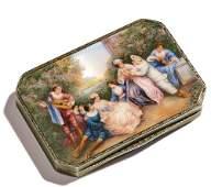 FRENCH ENAMEL SILVER BOX