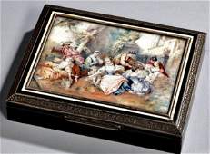 19TH CENTURY AUSTRIAN ENAMEL SILVER BOX