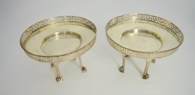 Pair Of Victorian Sterling Silver Dishes