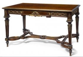 A Very Good Sormani Gilt Bronze Mounted Table