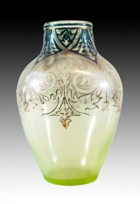 A Large German Glass. Vase