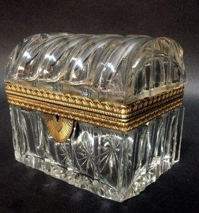 A Signed Ormolu Mounted Baccarat Crystal Box