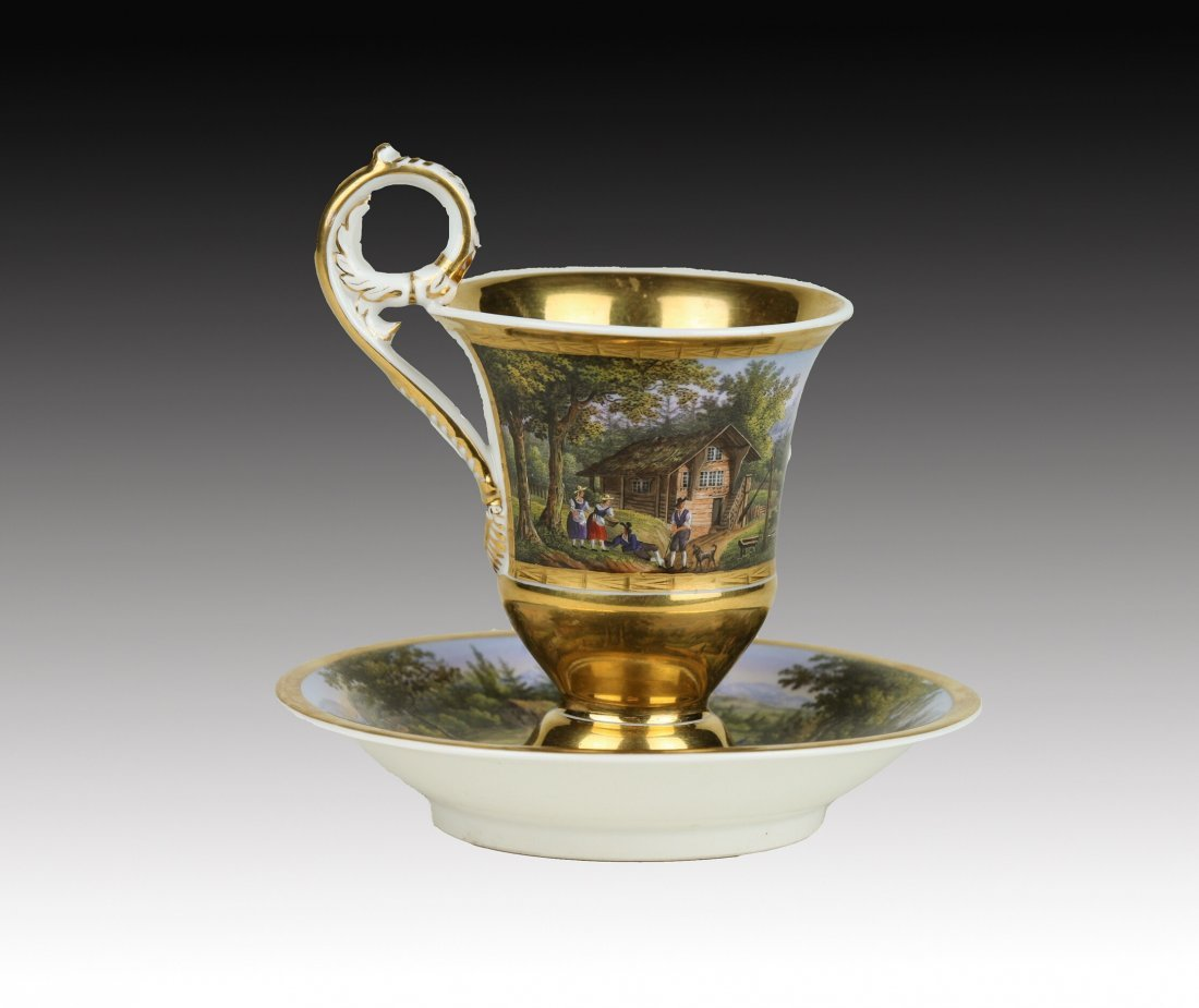MAGNIFICENT BERLIN CUP AND SAUCER