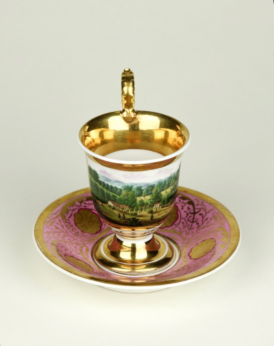 19TH CENTURY BERLIN PORCELAIN CUP AND SAUCER
