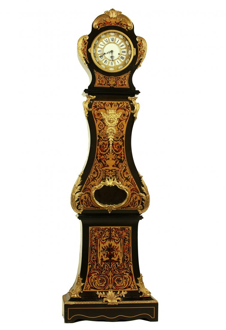 LOUIS XV BOULE STYLE ORMOLU MOUNTED CLOCK