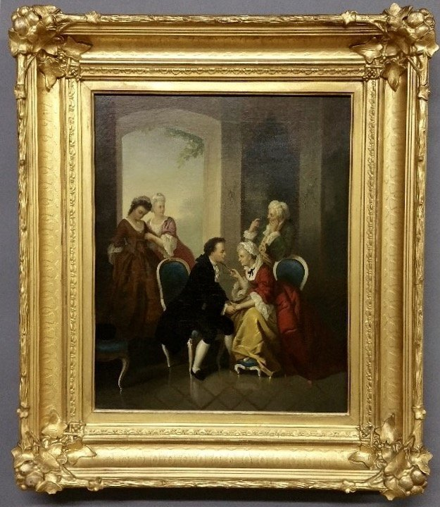 19TH CENTURY FRENCH SCHOOL OIL PAINTING ON CANVAS