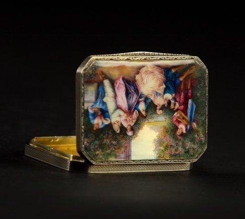 19TH CENTURY AUSTRIAN STERLING SILVER ENAMEL BOX - 5