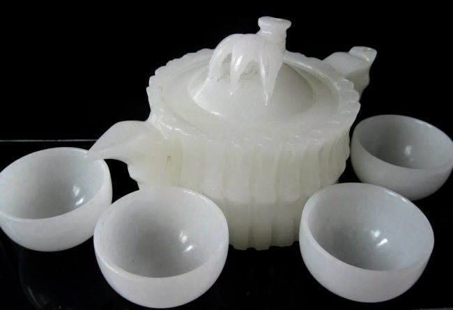 CHINESE WHITE JADE TEA SET