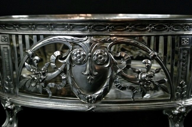 19TH CENTURY CONTINENTAL SILVER BOWL - 3