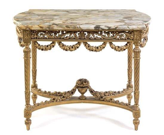 19TH CENTURY ITALIAN GILTWOOD CENTER TABLE