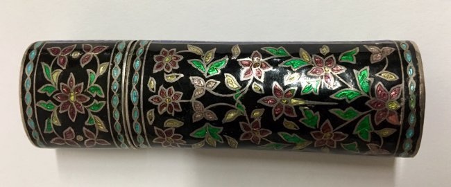 CHINESE SILVER AND ENAMEL BOX