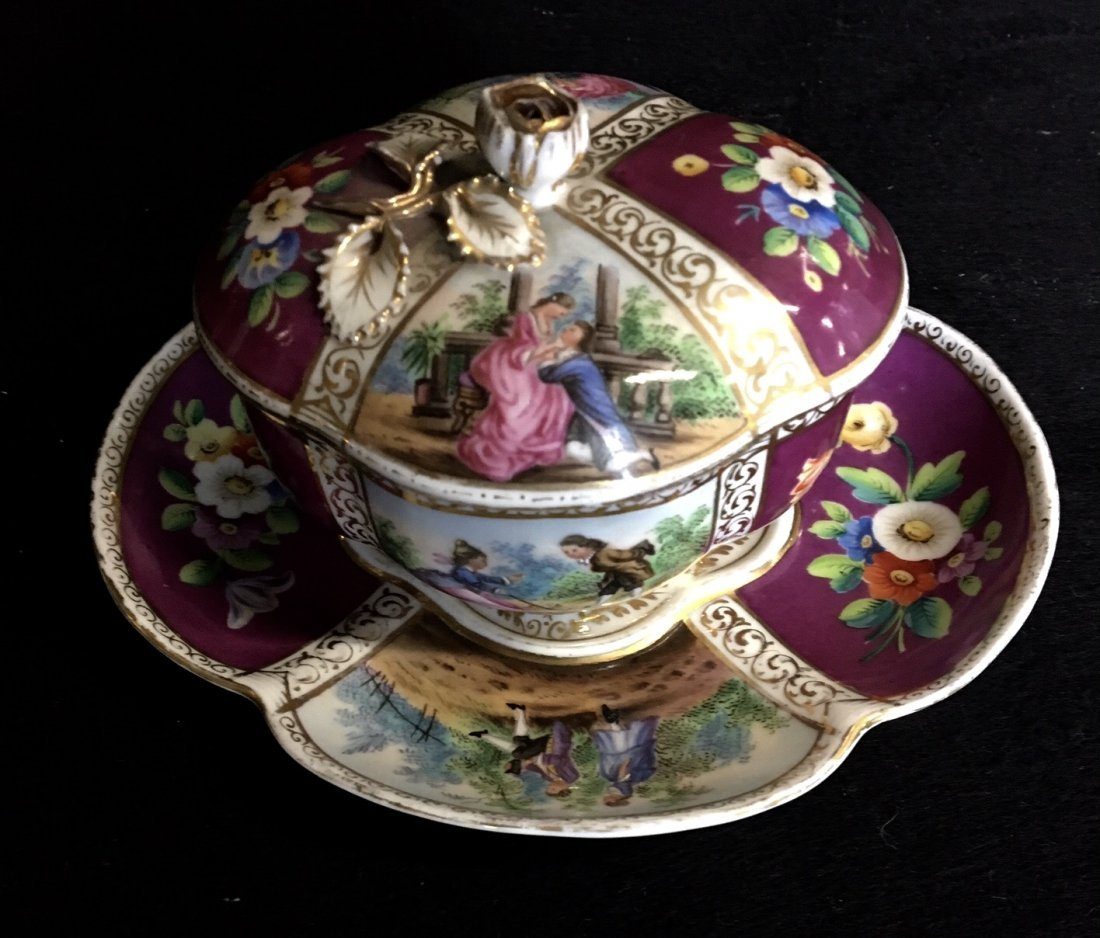 HELENA WOLFSOHN CHOCOLATE CUP AND SAUCER
