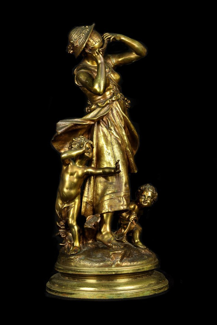 BRONZE SCULPTURE BY ETIENNE HENRI DUMAIGE (1830-1888)