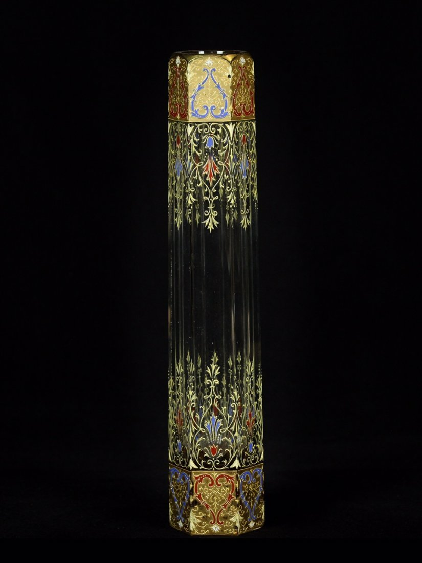 19TH CENTURY ENAMELLED MOSER VASE