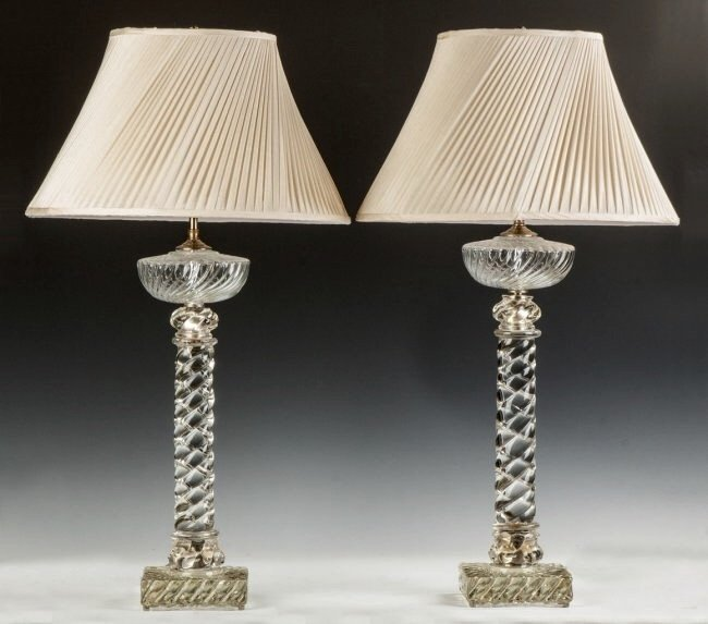 19TH CENTURY PAIR OR BACCARAT CRYSTAL LAMPS