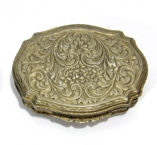 ANTIQUE CONTINENTAL SILVER COMPACT - 3