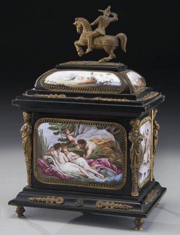 19TH CENTURY VIENNESE ENAMEL JEWELRY BOX - 2